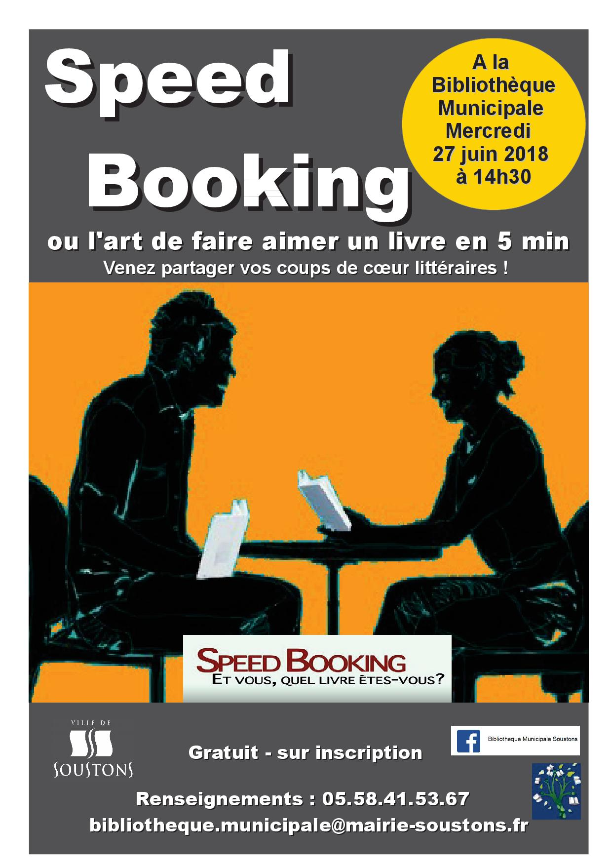 Affiche adultes SPEED BOOKING 06-2018