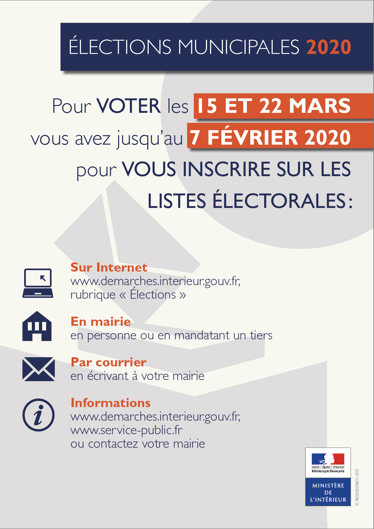 Affiche inscription listes electorales A3