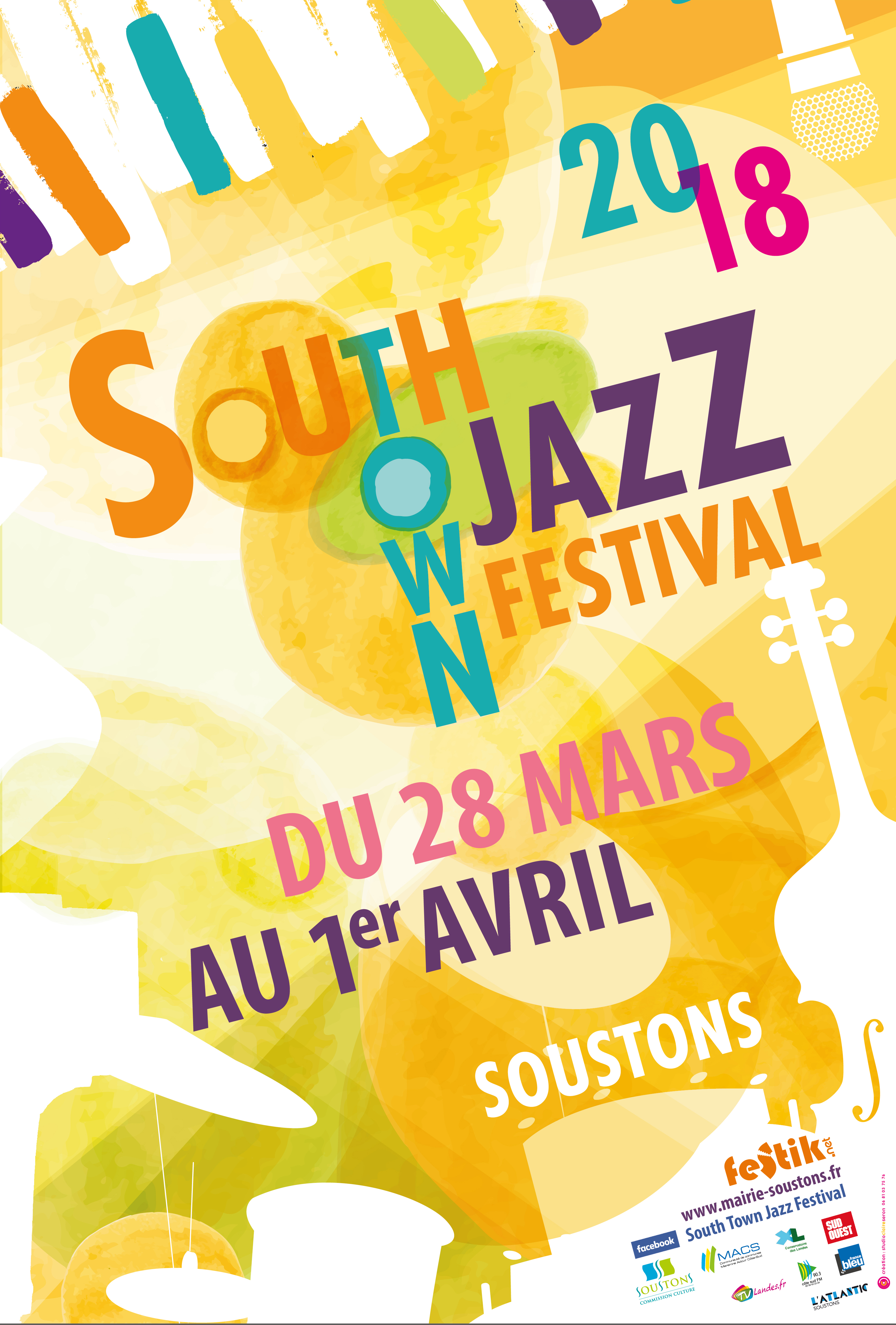 AFFICHE SOUTH TOWN JAZZ FESTIVAL 2018